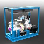 3D CAD Modell des KWK Druckluft+ Anlage