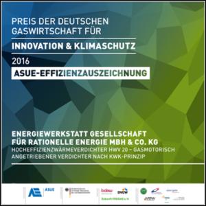 ASUE Effizienzauszeichnung der deutschen Gaswirtschaft